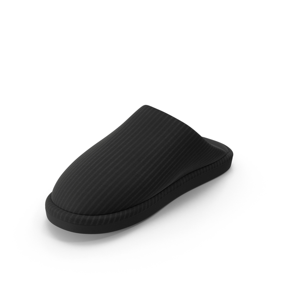Women's Slippers Black PNG & PSD Images