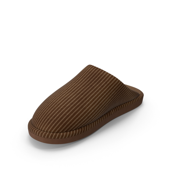 Women's Slippers Brown PNG & PSD Images