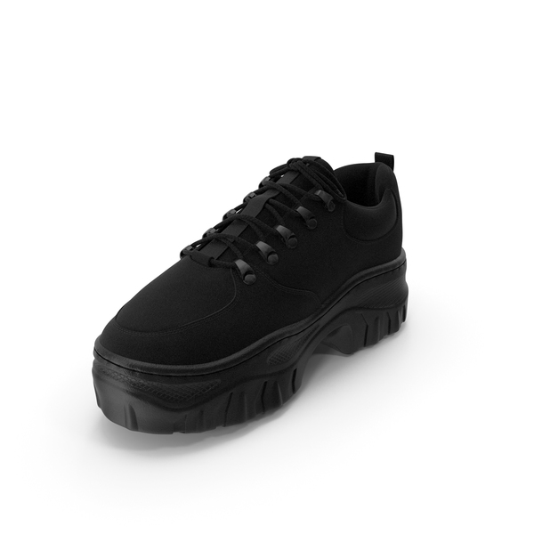 Women's Sneaker Black PNG & PSD Images