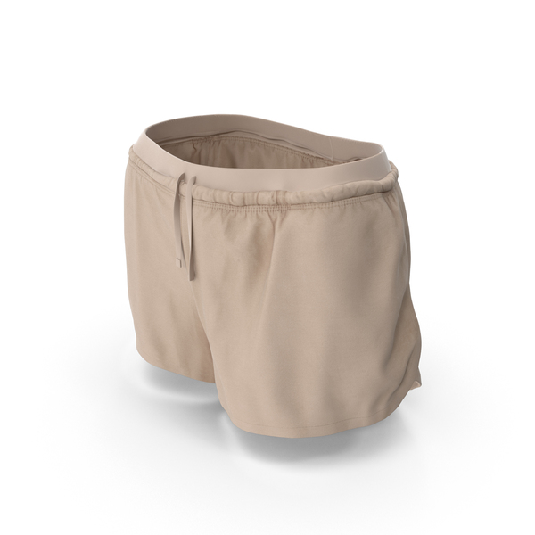 Women's Sport Shorts Beige PNG & PSD Images