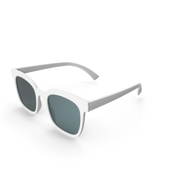 Women's Sunglasses  White PNG & PSD Images