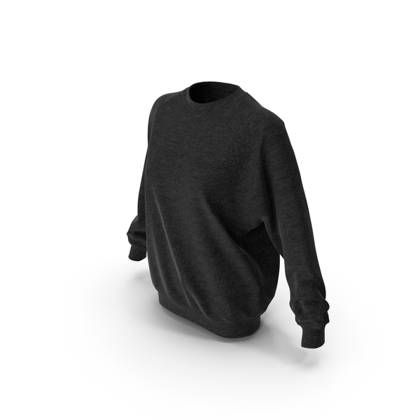 Women's Sweater Black PNG & PSD Images