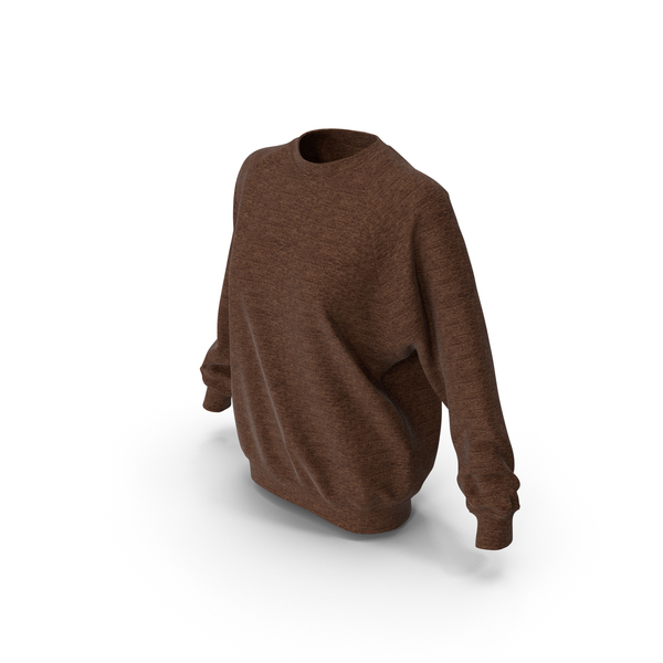 Women's Sweater Brown PNG & PSD Images