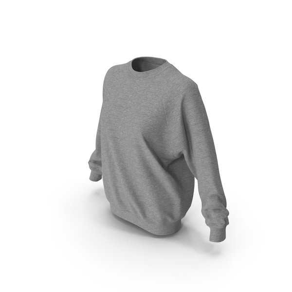 Women's Sweater Gray PNG & PSD Images