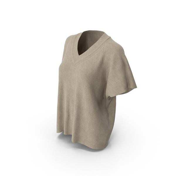 Women's T-Shirt Beige PNG & PSD Images