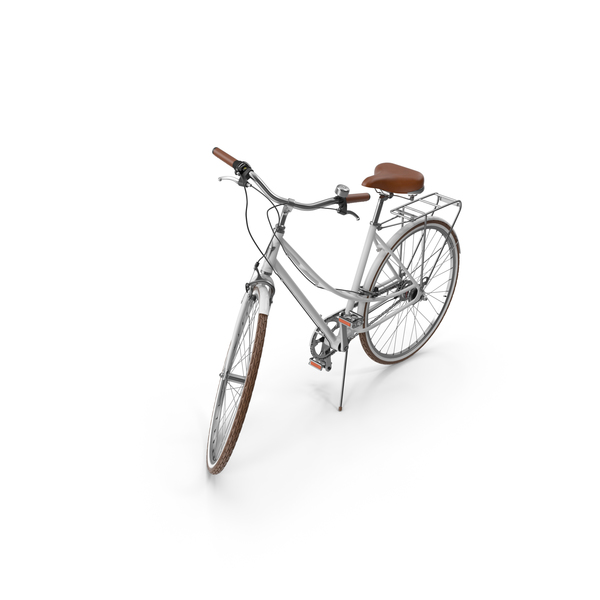 Women's White Bike PNG & PSD Images