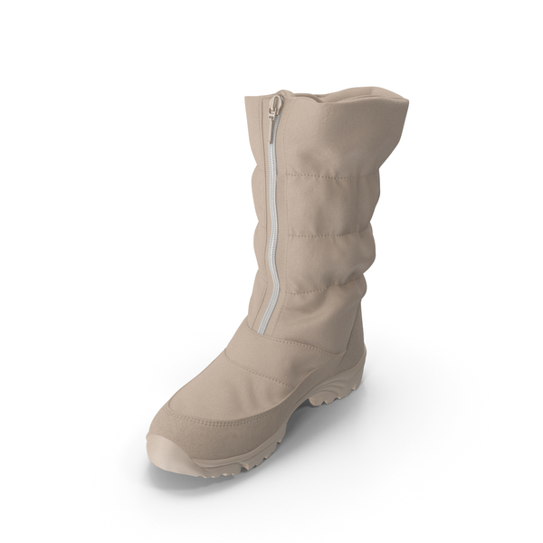 Women's Winter Boot Beige PNG & PSD Images