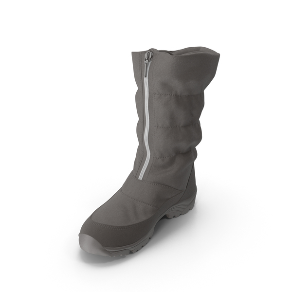 Women's Winter Boot Brown PNG & PSD Images
