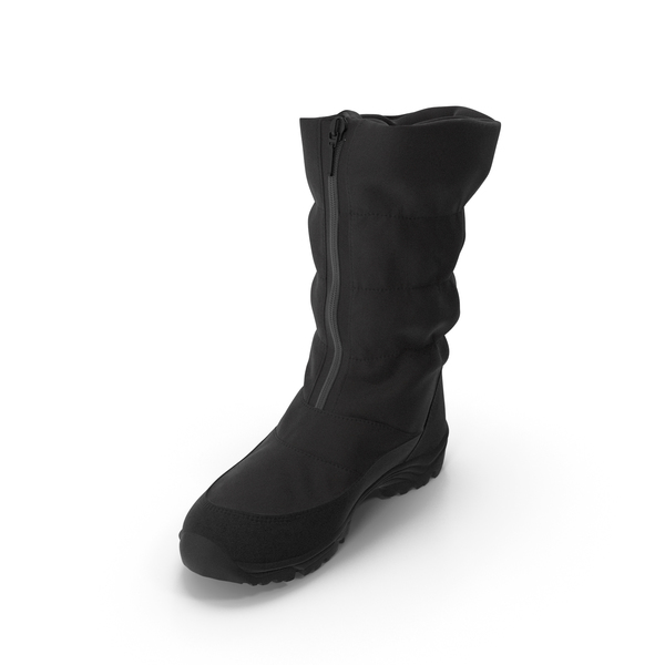 Women's Winter Boots Black PNG & PSD Images
