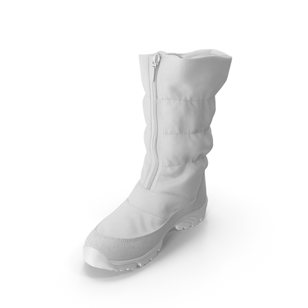 Women's Winter Boots White PNG & PSD Images