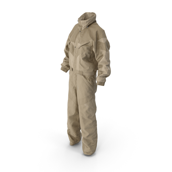 Uniform: Women's Winter Sport Coverall Beige PNG & PSD Images