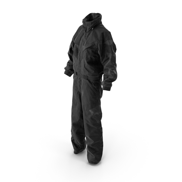 Women's Winter Sport Coverall Black PNG & PSD Images