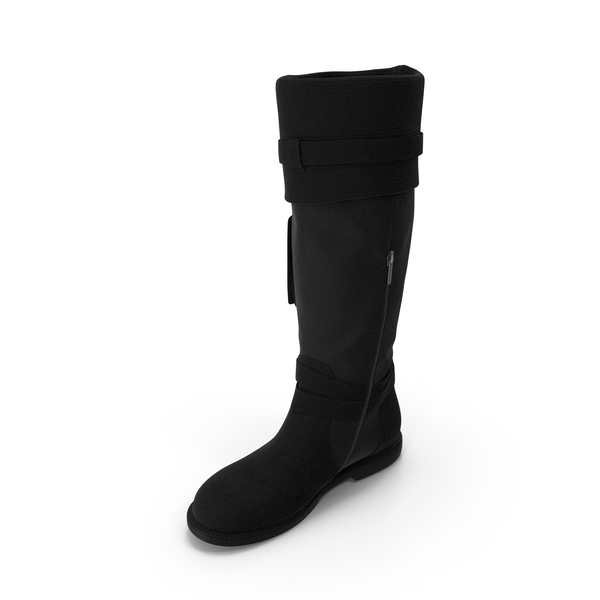 Womens Boots Black PNG & PSD Images