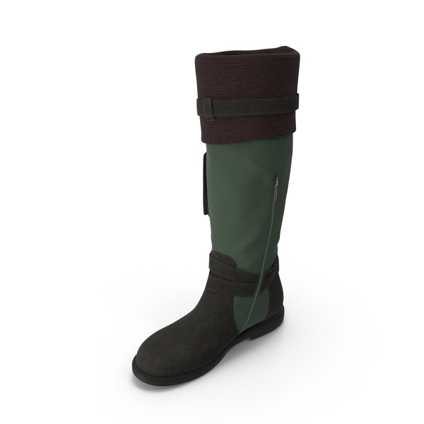 Womens Boots Green PNG & PSD Images