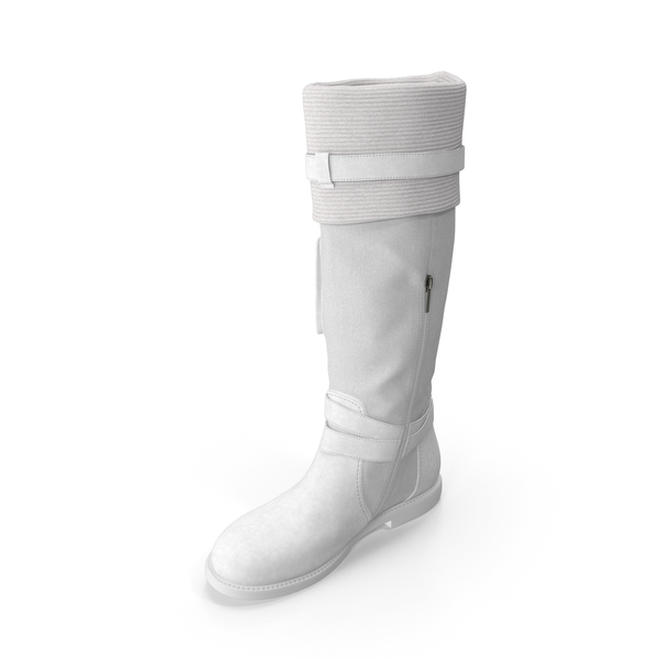 Womens Boots White PNG & PSD Images