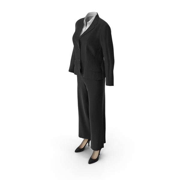 Womens Business Suit Black PNG & PSD Images