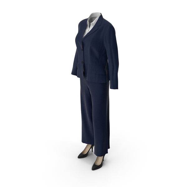 Womens Business Suit Blue PNG & PSD Images