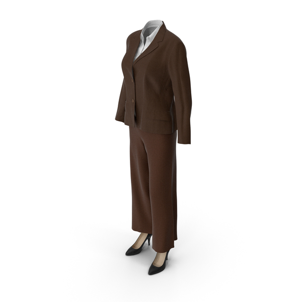 Womens Business Suit Brown PNG & PSD Images