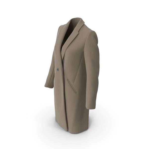Down: Womens Coat Beige PNG & PSD Images