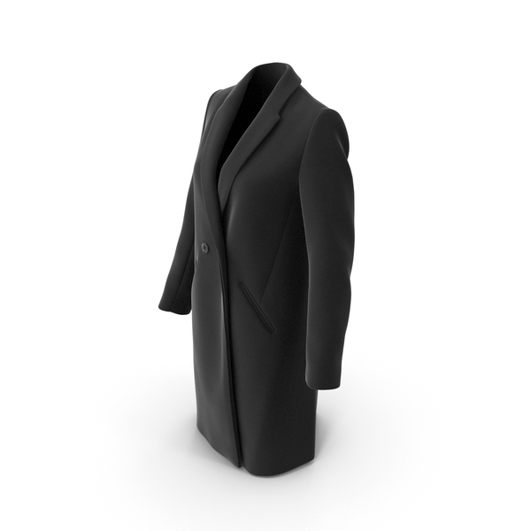 Down: Womens Coat Black PNG & PSD Images