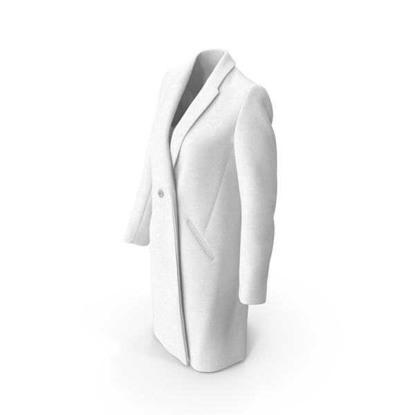 Womens Coat White PNG & PSD Images