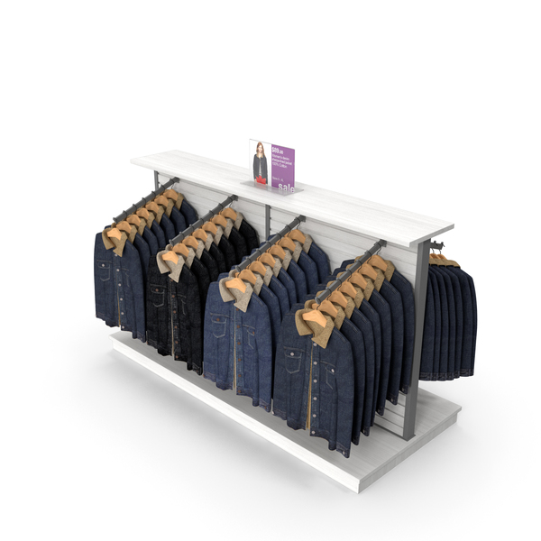 Clothes Stand: Womens Coats Display PNG & PSD Images