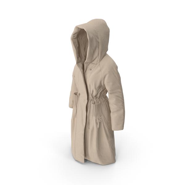 Jacket: Womens Down Coat Beige PNG & PSD Images
