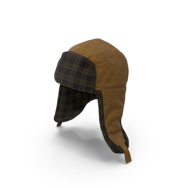 Knit Cap: Womens Ear Flap Hat Tartan PNG & PSD Images