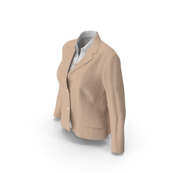 Womens Jacket Shirt Beige PNG & PSD Images