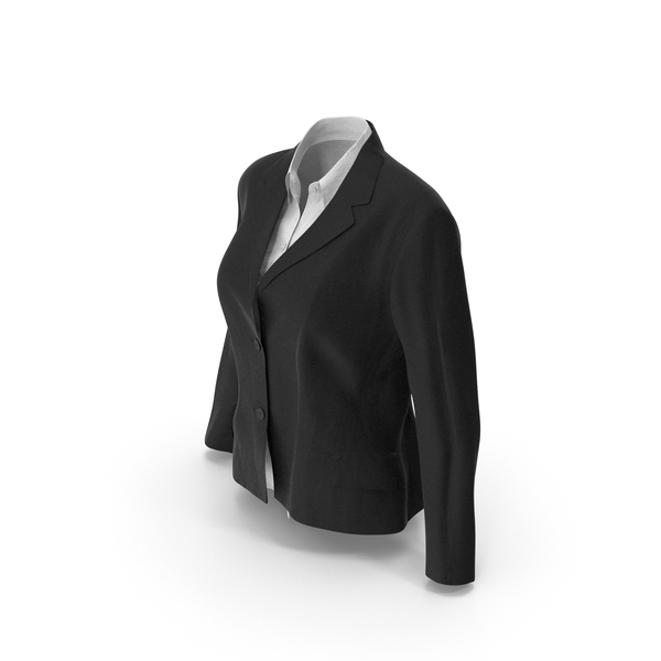 Womens Jacket Shirt Black PNG & PSD Images