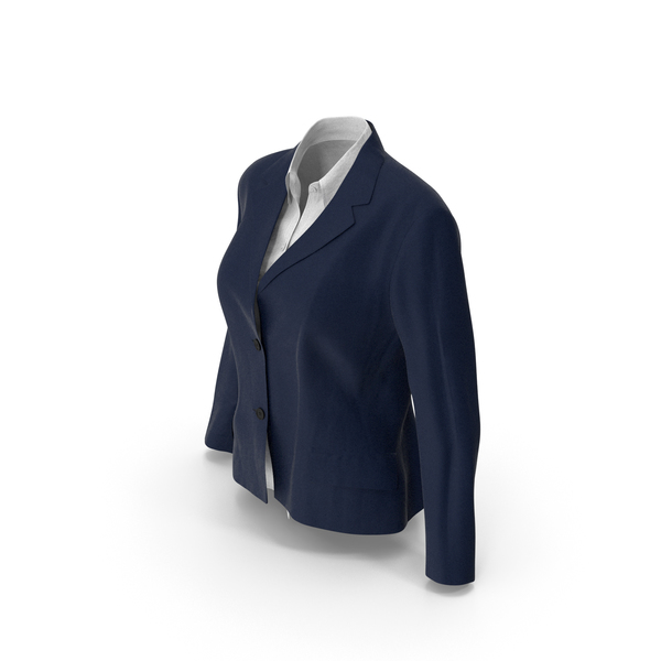 Womens Jacket Shirt Blue PNG & PSD Images