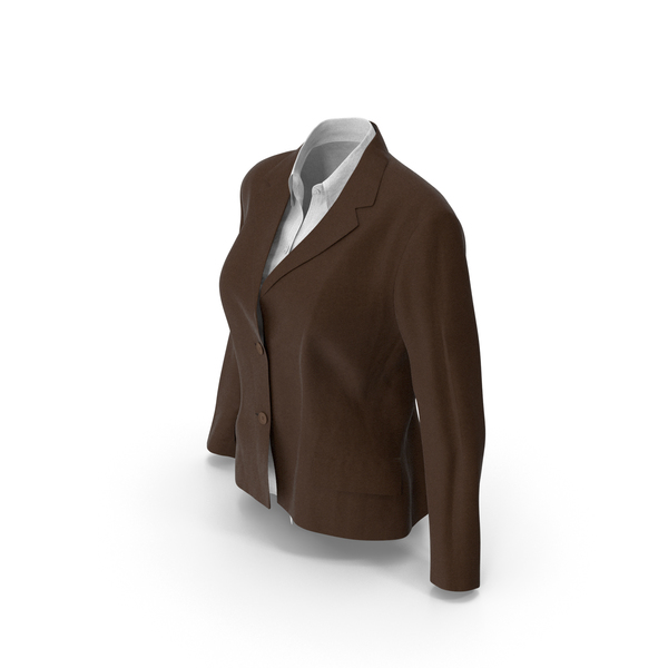 Womens Jacket Shirt Brown PNG & PSD Images