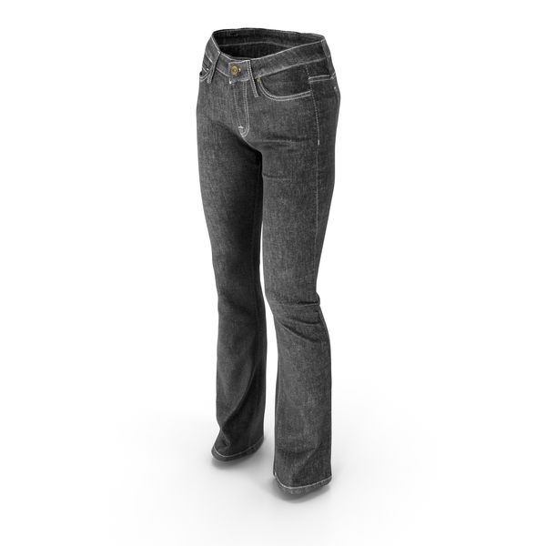 Womens Jeans Black PNG & PSD Images