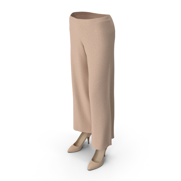 Womens Pants Shoes Beige PNG & PSD Images