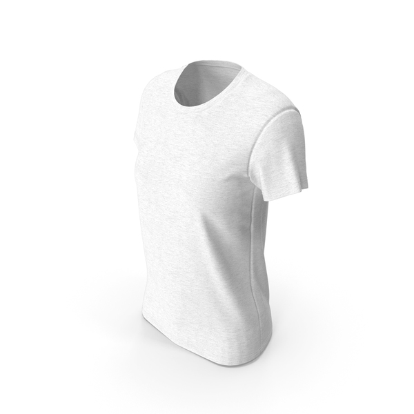 Womens Round Neck T-shirt PNG & PSD Images