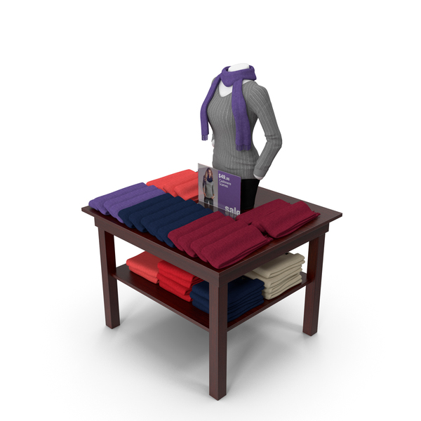 Womens Scarves Table PNG & PSD Images