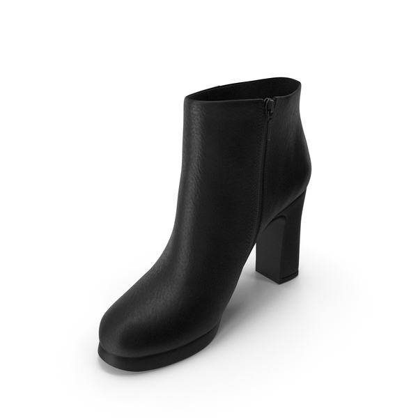 Ankle Boots: Womens Shoes Black PNG & PSD Images