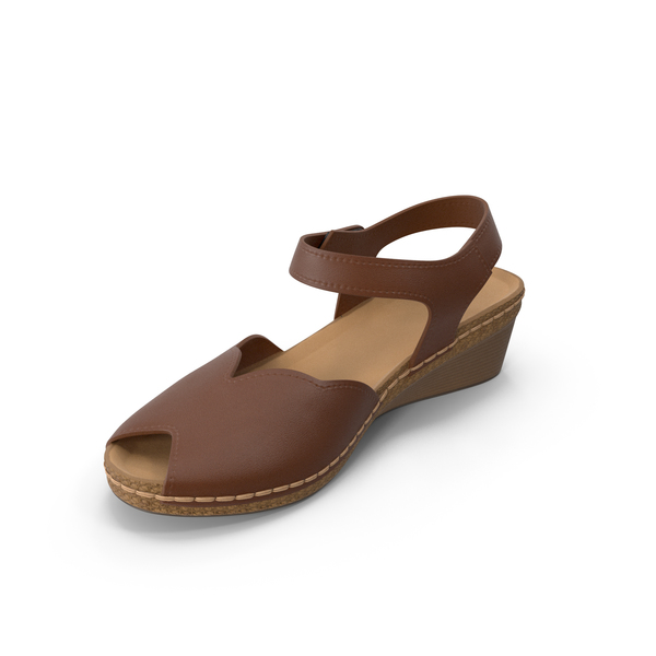 Sandals: Womens Shoes Brown PNG & PSD Images