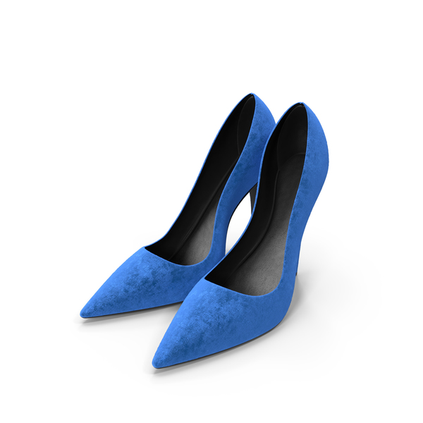 High Heels: Womens Shoes Suede Blue PNG & PSD Images