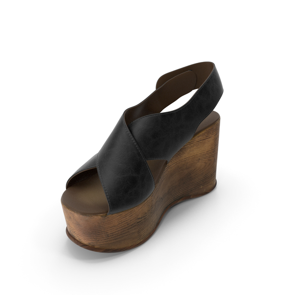 Womens Shoes Wood Black PNG & PSD Images