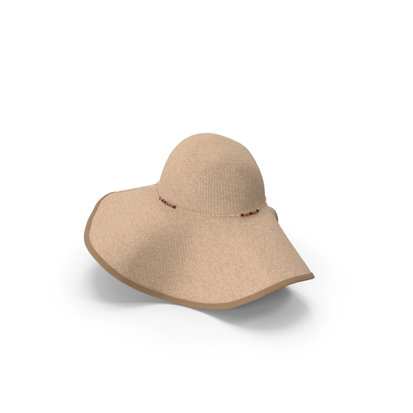 Womens Sun Hat Beige PNG & PSD Images