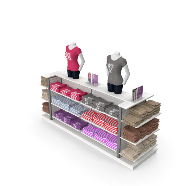 Clothes Stand: Womens T-Shirt Dislay Rack PNG & PSD Images