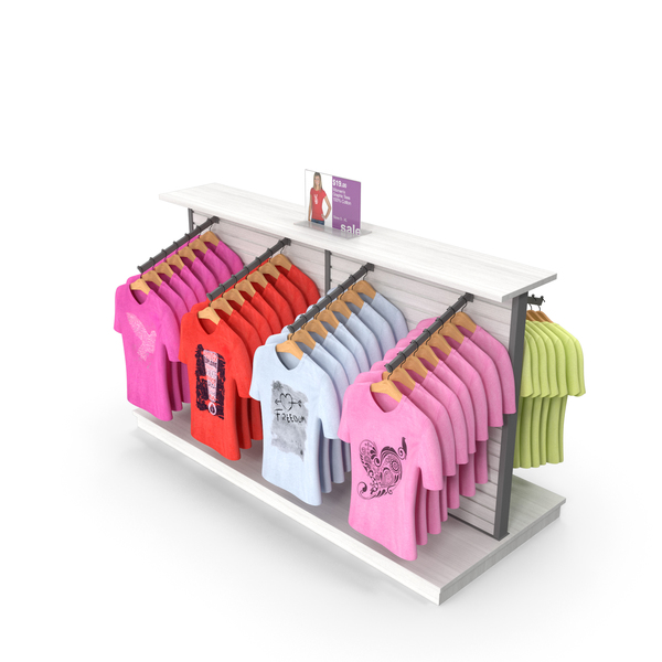 Clothes Stand: Womens T-Shirt Display PNG & PSD Images