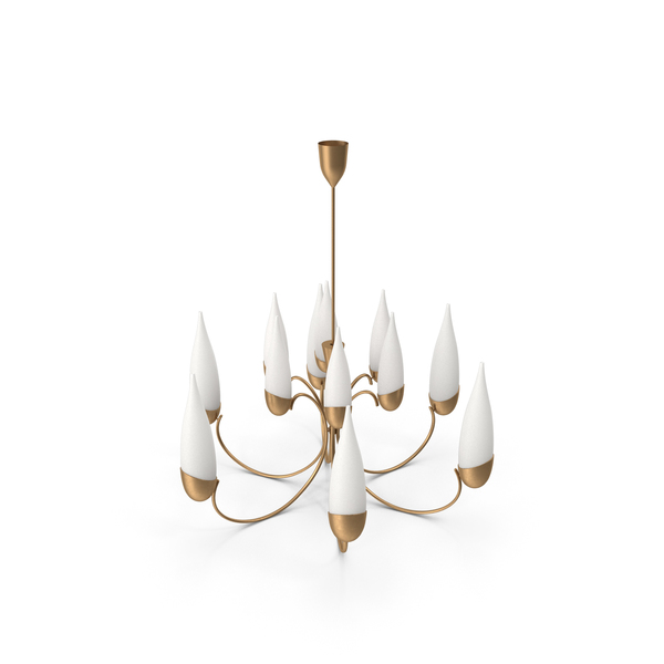 Wonderful 1950s Italian Candelabra Chandelier in the Manner of Stilnovo PNG & PSD Images