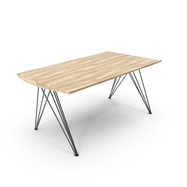 Wood and Wire Table PNG & PSD Images