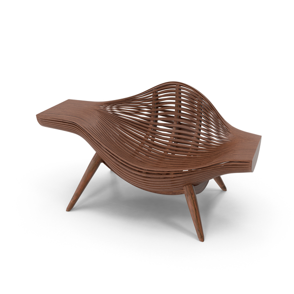 Wood Basket Chair PNG & PSD Images
