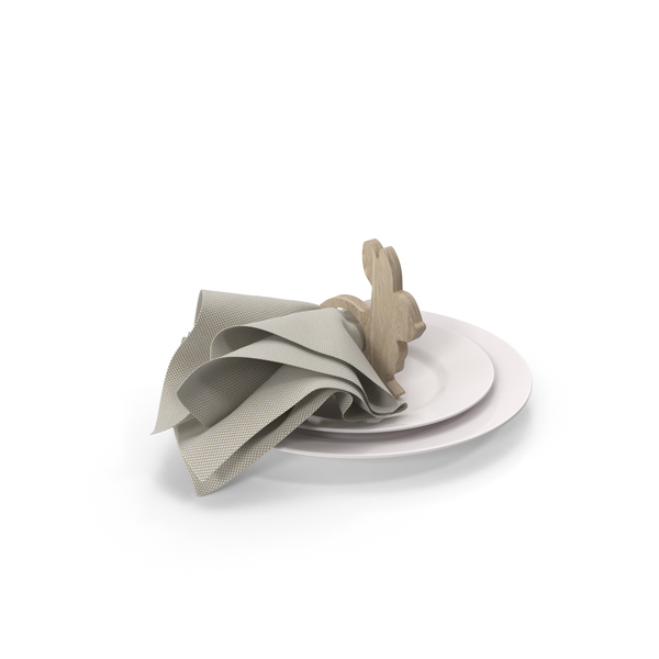 Wood Bunny Napkin Ring For Easter PNG & PSD Images