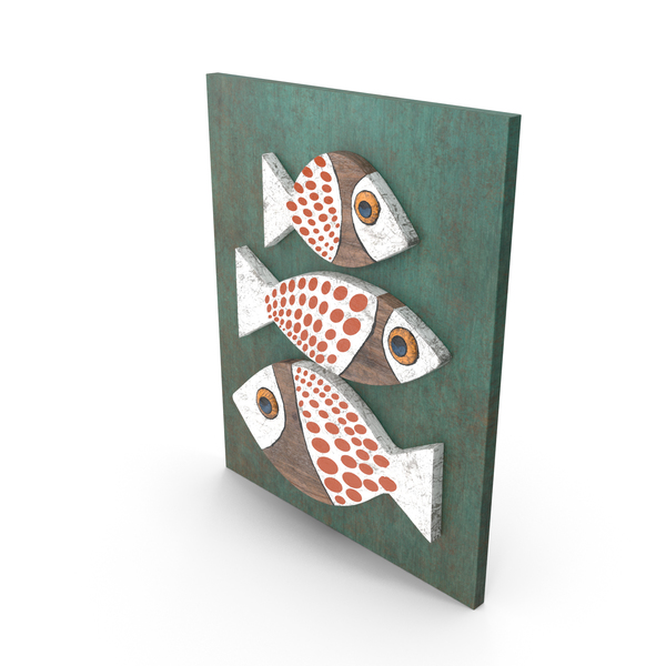 General Decor: Wood Fish PNG & PSD Images