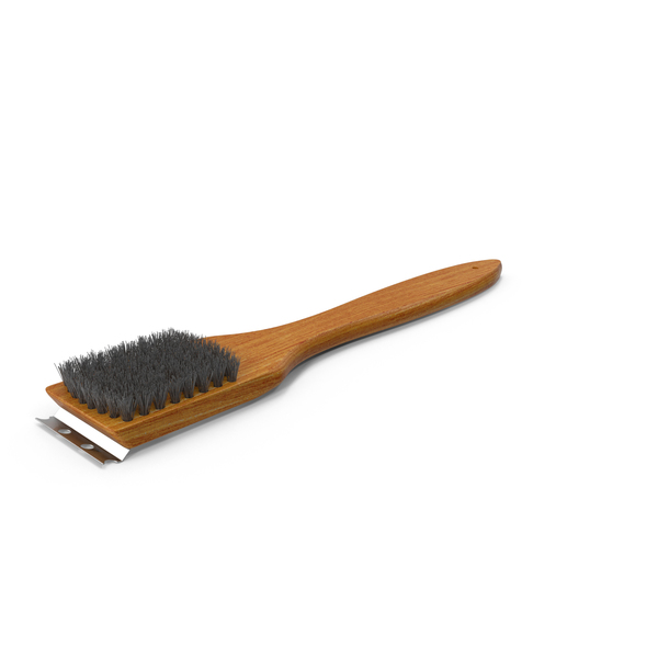 Wood Handled Grill Brush PNG & PSD Images