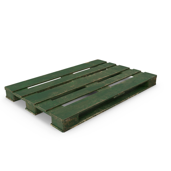 Wood Pallet Painted Green PNG & PSD Images